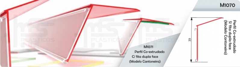 Perfil Plástico para Vidro Alto da Boa Vista - Perfil Plástico para Gôndolas