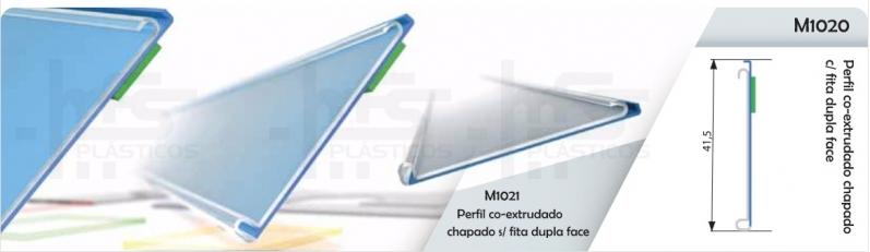 Perfil Plástico Tipo J Mogi das Cruzes - Perfil Plástico para Vidro