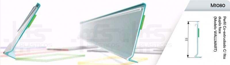 Quanto Custa Porta Etiqueta Dupla Face Itaim Bibi - Porta Etiqueta para Prateleira de Vidro Tipo L