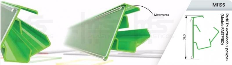 Compra de Perfil Plástico para Gôndolas Poá - Perfil Plástico Tipo J