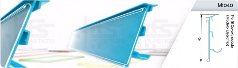 Compra de Perfil Plástico Retangular Poá - Perfil de Plástico em U