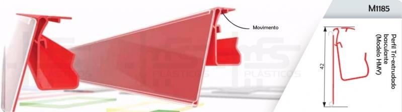Perfil Plástico para Gôndolas São Domingos - Perfil de Plástico em U