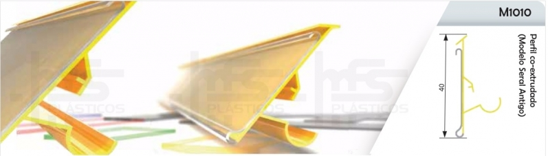 Perfil Plástico Retangular Araçatuba - Perfil Plástico para Vidro
