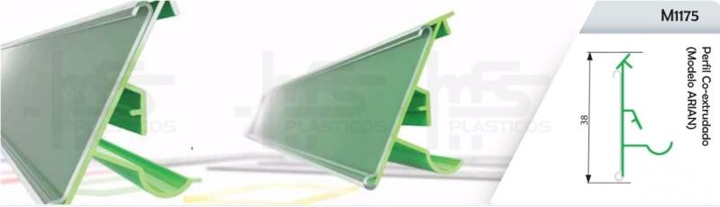 Porta Etiqueta para Prateleiras Bauru - Porta Etiqueta em L
