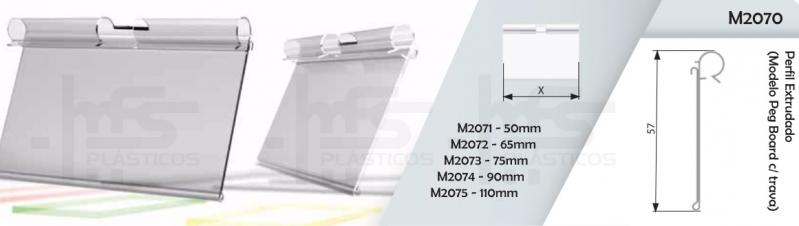 Porta Etiqueta Transparente Pinheiros - Porta Etiqueta para Prateleira de Vidro Tipo L