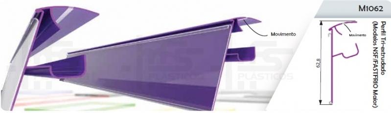 Portas Etiquetas de Plástico José Bonifácio - Porta Etiqueta para Prateleira Tipo U