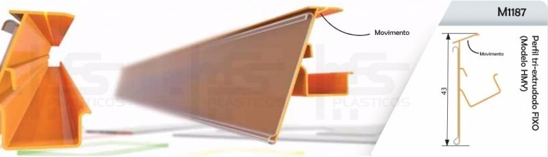 Valor de Perfil Plástico Retangular Mauá - Perfil para Fixar Plástico