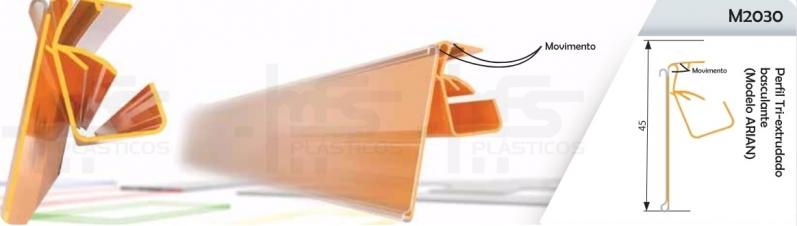 Valor de Perfil Plástico Tipo J Alphaville - Perfil Plástico para Gôndolas